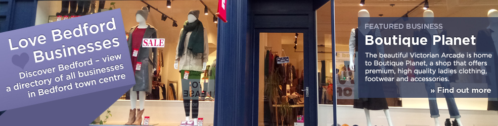 Boutique Planet shop in Bedford