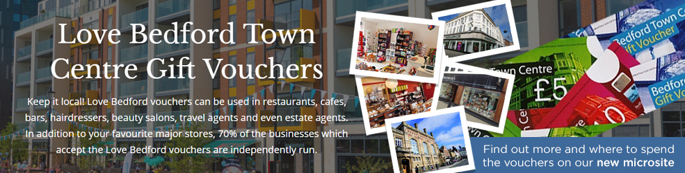 Love Bedford Town Centre Gift Vouchers microsite