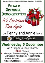 Flower Arranging Demonstration - It's Christmas Time Again