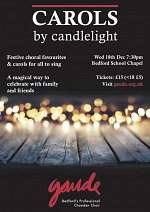 Carols by candlelight at Bedford School Chapel