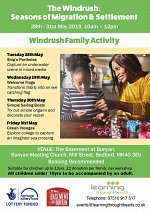 Windrush Creative Family Activities May Half Term at The Basement at Bunyan
