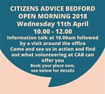 Citizens Advice Bedford Open Morning
