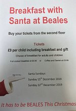 Breakfast with Santa at Beales